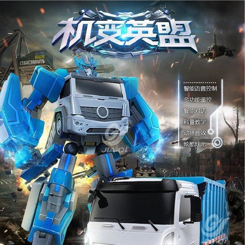 2,4g Rede Control Trans Roboter Spielzeug Auto Tanzen Voice Control Lkw Mit Lichter One-key-verformung