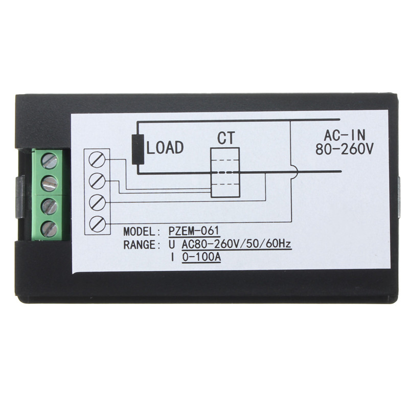 Mierniki napięcia prądu przemiennego 100A / 80 ~ 260 V Cyfrowy - Przyrządy pomiarowe - Zdjęcie 2