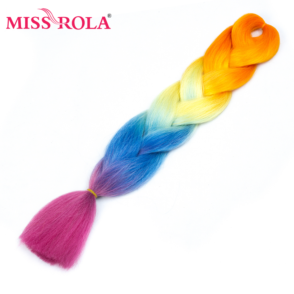 Crochet Twist Synthetic-Hair-Extension Jumbo Braiding Kanekalon-Hair Miss-Rola Ombre-Color