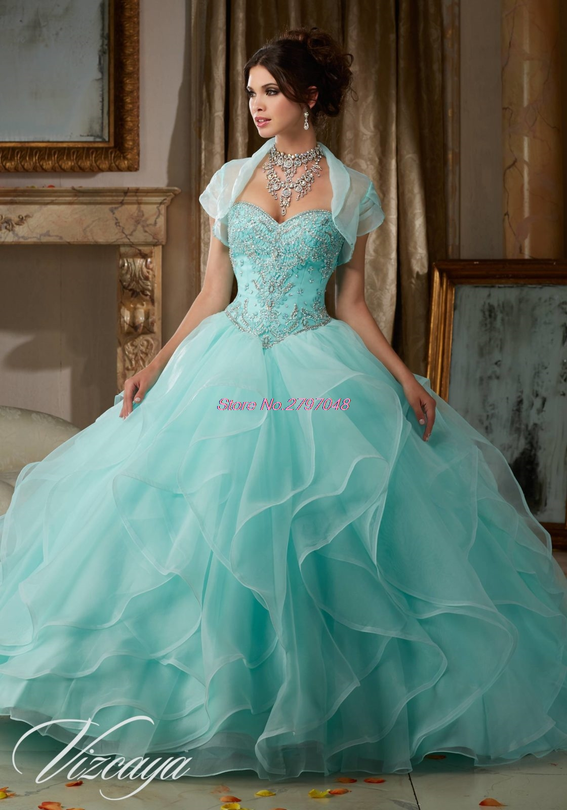 2017 Coral Mint Quinceanera Dresses Ball Gown Organza With Jacket Beaded  Cheap Sweet 16 Dresses Vestidos de 15 Anos Q45-in Quinceanera Dresses from  Weddings ... 5455a04b2428