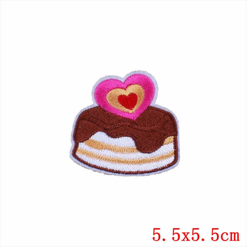Pulaqi 1 шт. торт конфеты патчи для одежды патч для обуви и шляпы мультфильм детская одежда вышитые железные на патчи H