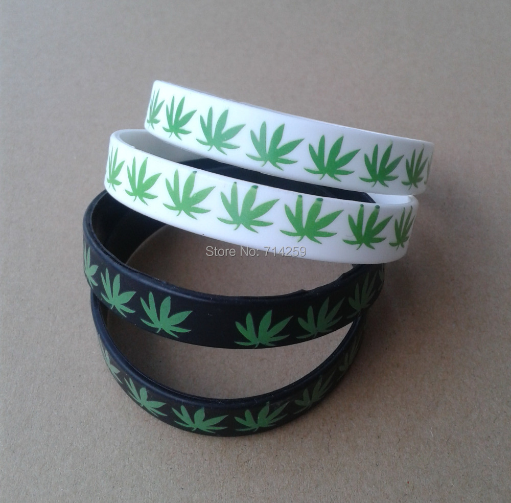 100pcs Custom One Color Print Texts & Logo Rubber Wristbands P11128  Silicone Bracelet For Events &