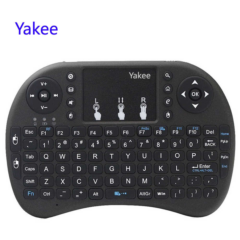 I8 Keyboard 2.4GHz Udara Mouse Keyboard Nirkabel Remote Control Touchpad untuk Android 9.0 TV Box HK1 Max X88 Pro