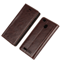 Xiaomi Redmi 3 Pro Case Luxury Genuine Crazy Horse Leather Flip Cover Original Phone Cases For