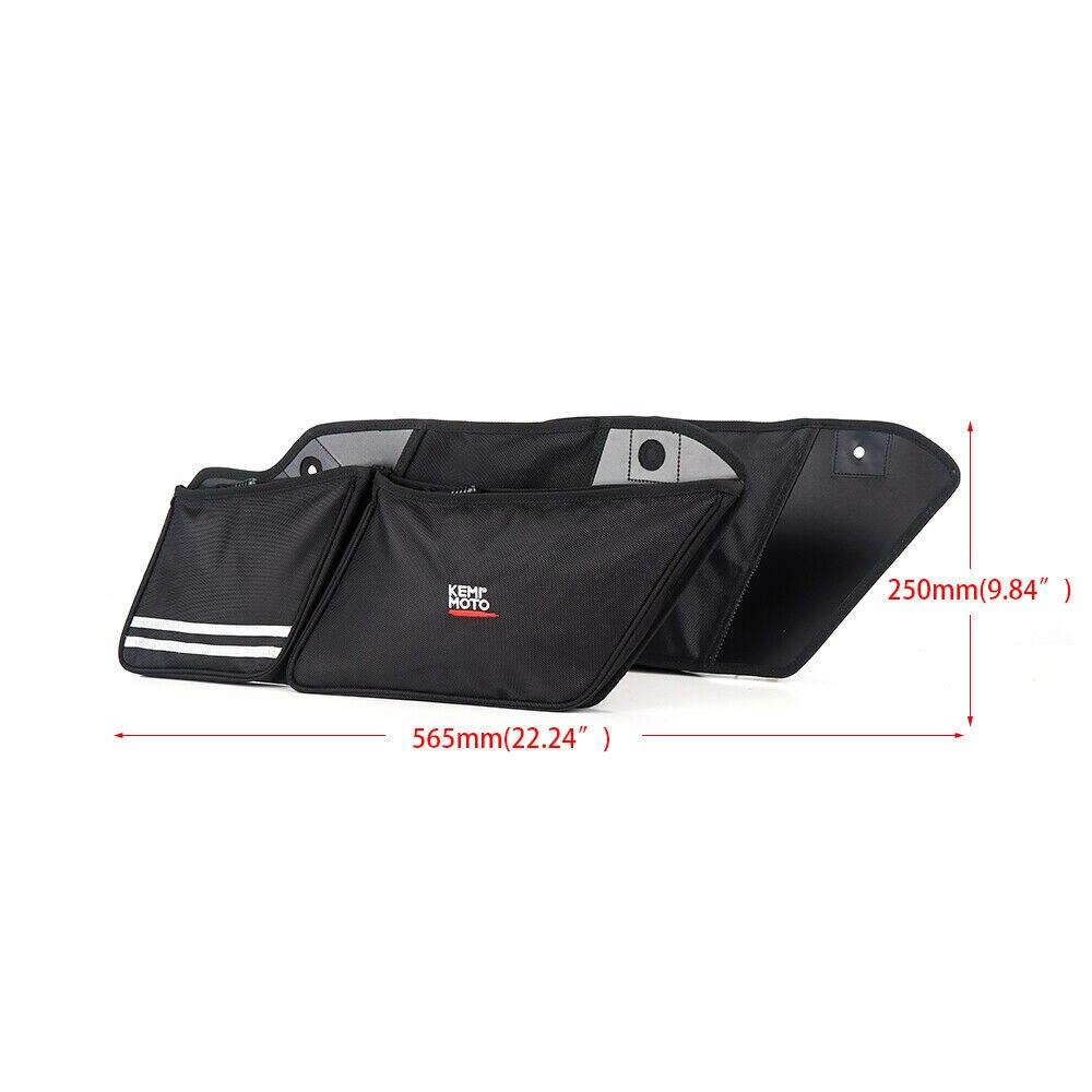 1 Pair Wall Organizer Saddle Hard Bags For Street Glide Road King 2014 2019 Organizer Tool Storage Case Saddlebags