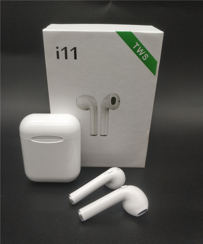 <font><b>Wireless</b></font> <font><b>Bluetooth</b></font> <font><b>5.0</b></font> <font><b>i11</b></font> <font><b>TWS</b></font> <font><b>Earphones</b></font> <font><b>Earpieces</b></font> mini Earbuds Headsets With Mic For iPhone Xs 7 8 Samsung S6 S8 Xiaomi Huawei image