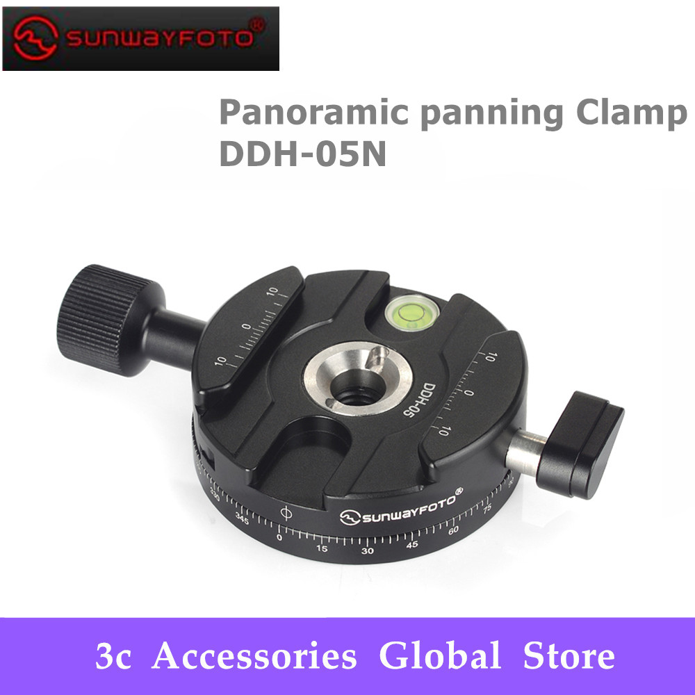 SUNWAYFOTO Panoramic panning Clamp DDH 05N Tripod Head Quick Release Clamp For DSLR Tripode Plate BallHead