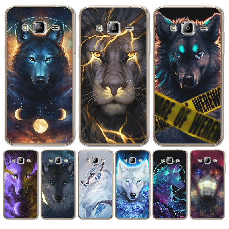 Luxury Starry animal lion wolf For <font><b>Samsung</b></font> Galaxy J3 J4 J5 J6 <font><b>J7</b></font> J8 Plus <font><b>2016</b></font> 2017 2018 J2 Prime Case Cover Silicone Coque <font><b>Etui</b></font> image
