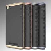 Dulcii для Xiaomi Redmi 4A телефон случаях металлик PC бампер + углеродного волокна ТПУ чехол для Xiaomi Redmi 4 А охватывает Coque-золото