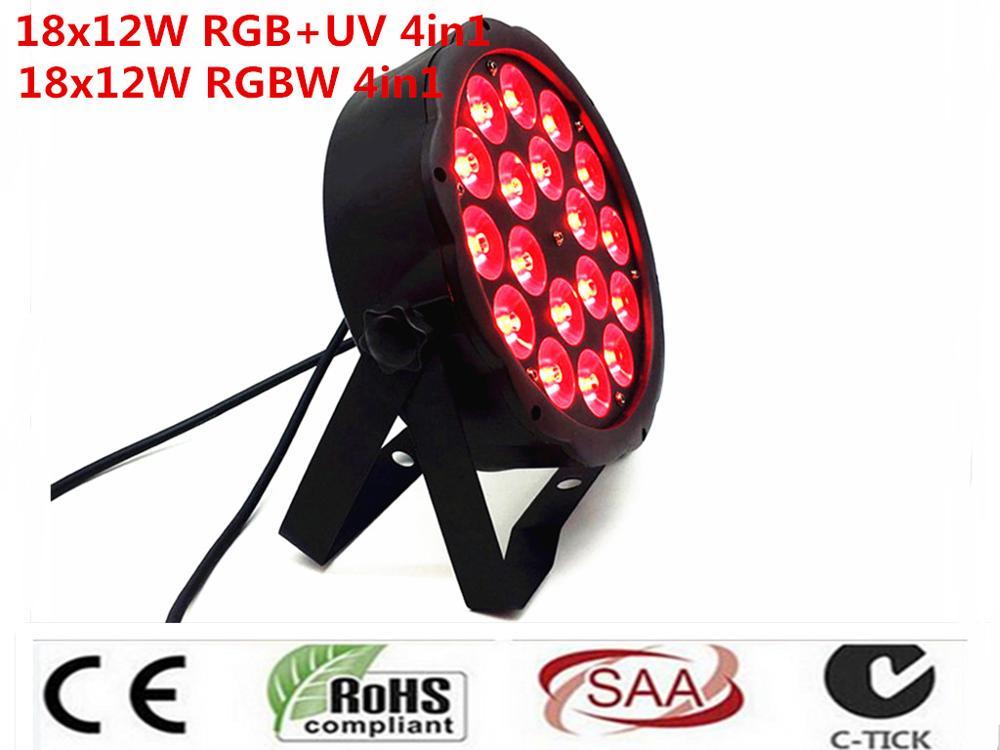 18X12 W RGBW 4in1 16 Bit Dimming LED Lattine Par luce Della Fase Della Discoteca del