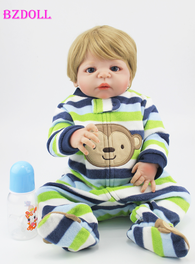 55cm Full Silicone Vinyl Body Reborn Boy Babies Dolls Toy Handsome Newborn Baby Doll Child Kid Birthday Gift55cm Full Silicone Vinyl Body Reborn Boy Babies Dolls Toy Handsome Newborn Baby Doll Child Kid Birthday Gift