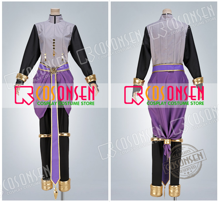 Fire Emblem Henry Purple Cosplay Costume Cosonsen All Sizes Custom Made COSPLAYONSEN