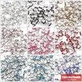 (50 Pcs = 1 Lote!) frete Grátis AAAA Qualidade 8x4 MM Metal Prateado Cristal Rhinestone Rondelle Spacer Beads 18 Cores Para Escolher