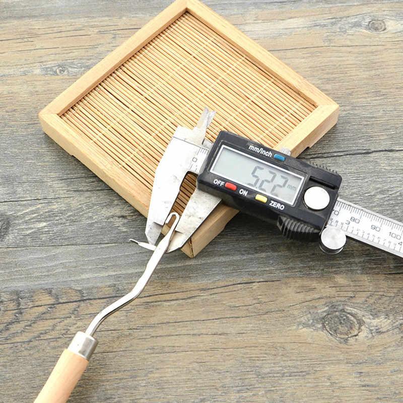 1 PCs الخشب مقبض الكروشيه السنانير نسج إبر للتطريز DIY الحرفية الحياكة السجاد إصلاح الخياطة أداة