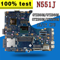 Multiple configuration Laptop motherboard for ASUS N551J G551J N551JK N551JQ N551JW N551JB N551JM N551J Mainboard Motherboard