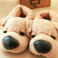 New Winter Fashion Cotton-padded Shoes Cute Cartoon Plush Dog Home Slippers Indoor EVA Non-slip Floor Slippers Indoor Shoes