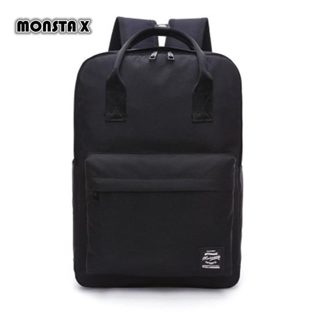 MONSTA X Large Capacity Backpack Women Preppy School Bags For Teenagers Men  Oxford Travel Bags Girls Laptop Backpack Mochila 45fa69c00
