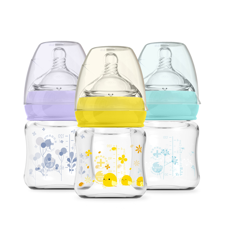Baby Infant Milk Bottle For 0-24M Newborn Safety Feeding Glass Baby Bottles Breast Milk Bottle Biberon Mamadeira Feeding Cup