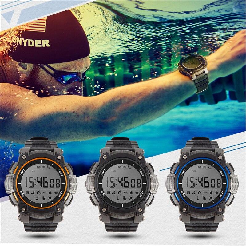 Time Owner Bluetooth Clock Smart Watch Notification Remote Control Pedometer Sport Watch Waterproof Women Men's Wristwatch