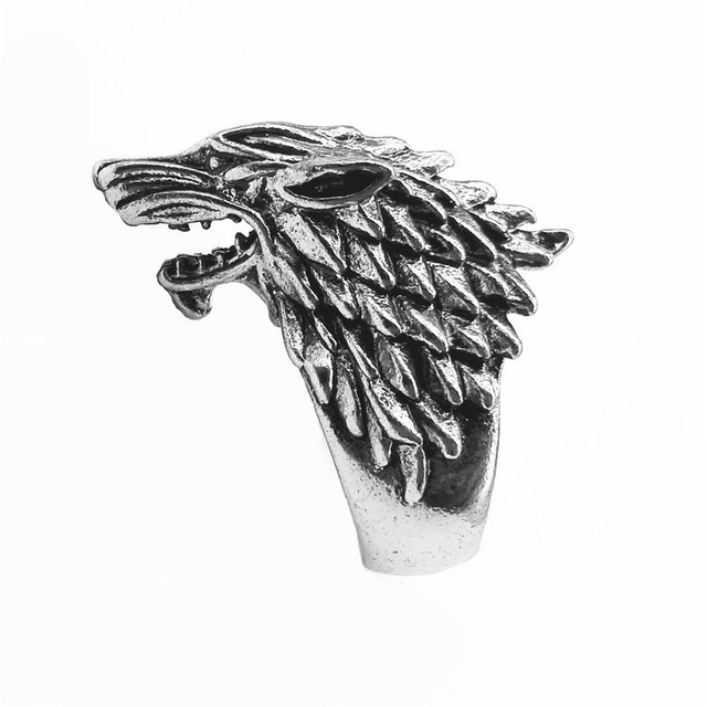 """Ice Wolf House Stark Of Winterfell"" Ring"