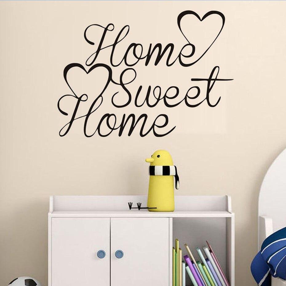 Muursticker Home Sweet Home.Us 1 46 45 Off Home Sweet Home Vinyl Citaat Muursticker Diy Slaapkamer Decoratie Home Decor Woonkamer Muurschildering Kunst Voor Kinderen Kamers