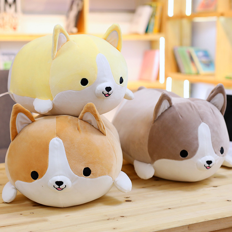 Cute Corgi Dog doll pillow Shiba Inu plush toy holding sleeping doll Stuffed animal pillow gift for baby 35cm hot sale super kawaii plush welsh corgi doll toys stuffed dogs car toy pillow home decoration holiday gift