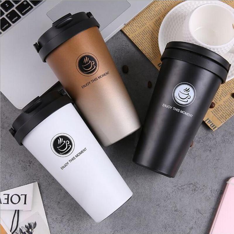 Keelorn di Alta Qualità 2017 Doppia Parete In Acciaio Inox Boccette di Vuoto 500 ml Termo Tazza di Caffè Tè Latte Tazza di Viaggio Thermol bottiglia
