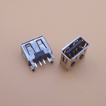 400PCS laptop motherboard micro 2.0 USB 4pin 4 pin DC A Type Flat Angle (180 Degree) Female PCB Connector Socket Jack Plug black