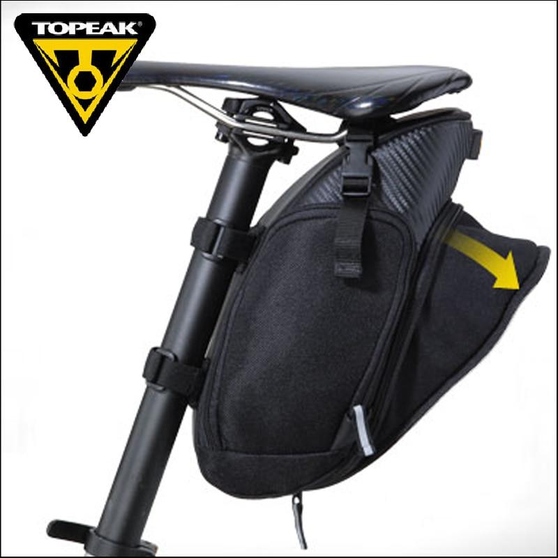 TOPEAK Taibao Mountain Highway Bicycle Receiving Bag Expansible Saddle Folding Bike Riding Tail Packing Equipment TC2290B