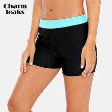 все цены на Charmleaks Women Bikini Bottom Ladies Swim Trunks Patchwork Swimwear Tankini Briefs Slim Swimsuit Boardshort Swimming Bottoms