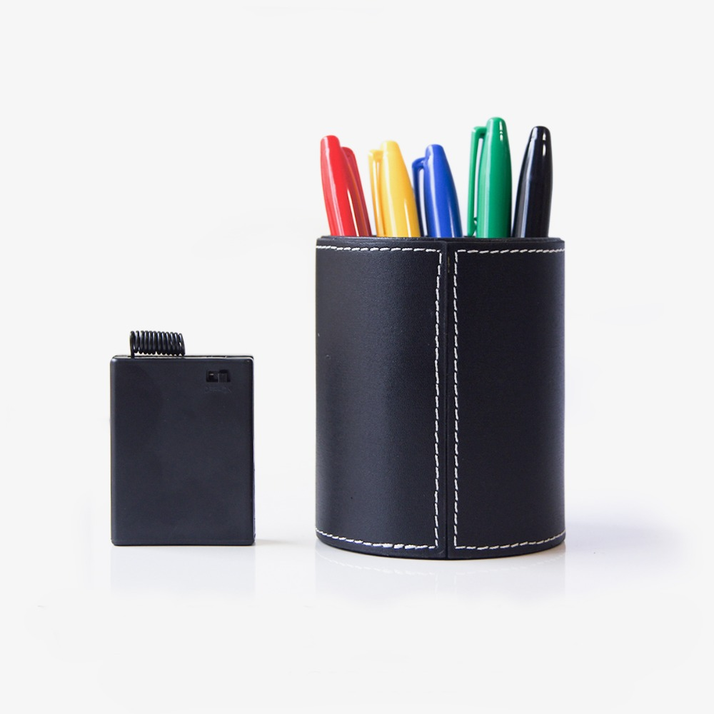 Free Shipping Color Pen Prediction - Leather Pen Holder - Close Up Magic / Magic Trick/Mentalism