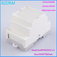 3 pcs/lot free shipping  din rail enclosure plastic electrical din rail box ABS plastic fireproof materials  53 x87x60 mm