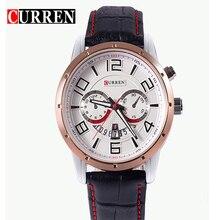 Famosa Marca CURREN Hombres Del Reloj de Moda de Cuero Reloj de Pulsera de Cuarzo Relojes de Pulsera Para hombres Relogio Reloj Resistente Al Agua