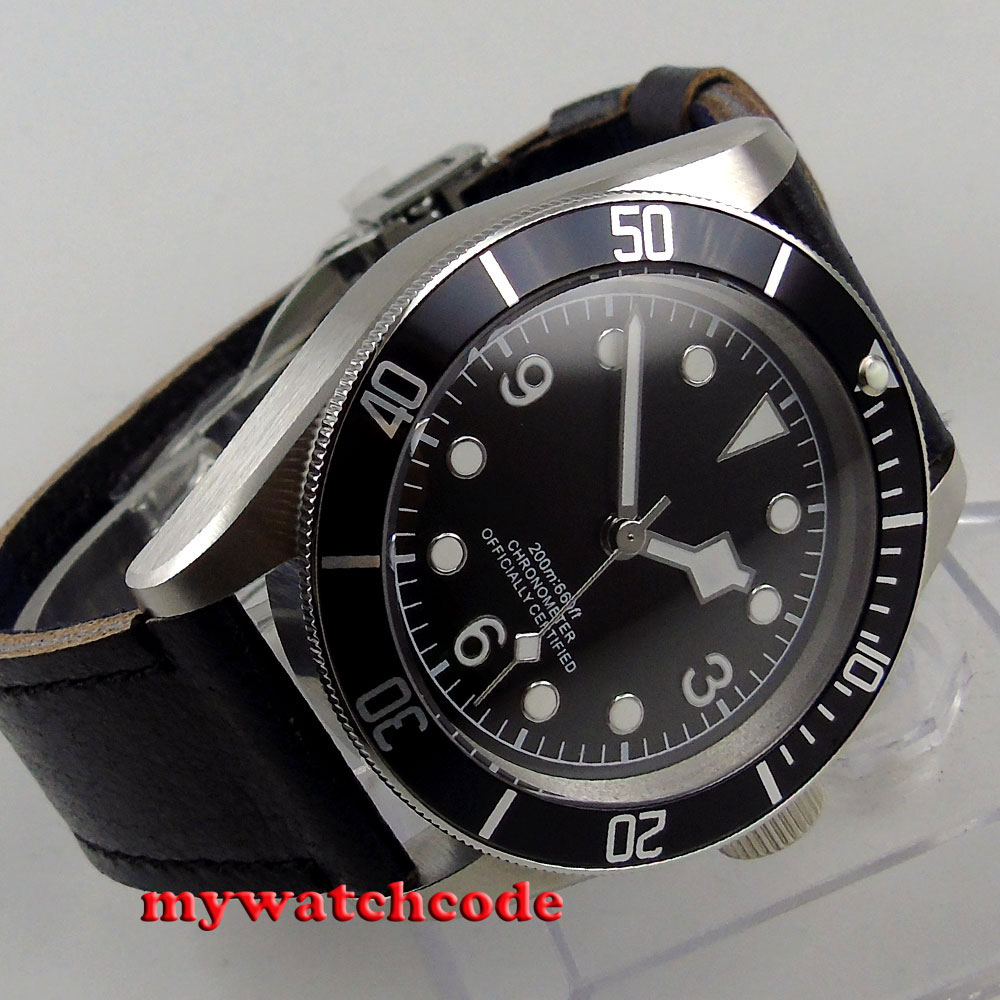 41mm corgeut black sterile dial black bezel Sapphire Glass automatic mens Watch