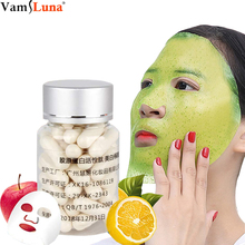 100pcs Capsule Mask Powder Collagen Protein Face Skin Care Mask Crystal Rejuvena