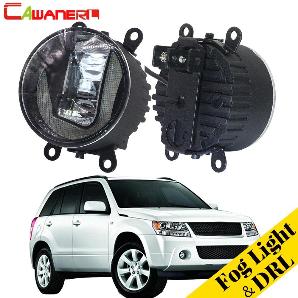 цена на Cawanerl 2 X Car LED Fog Light Daytime Running Lamp DRL For Suzuki Grand Vitara 2 / II Closed Off-Road Vehicle JT 2005-2015