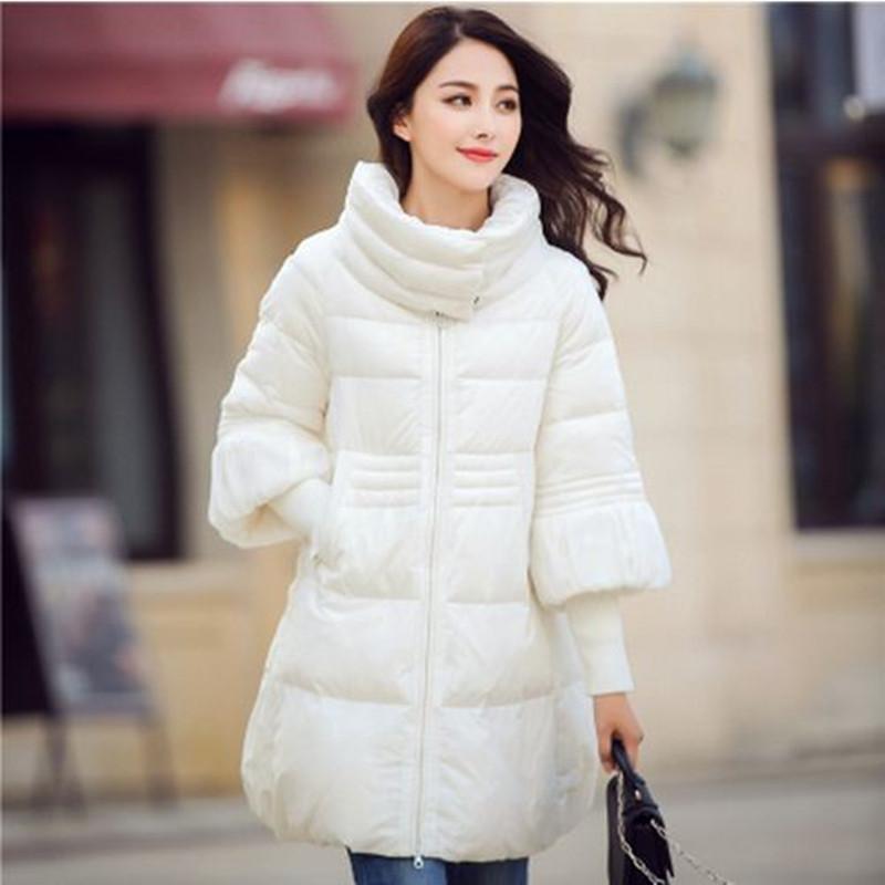 ФОТО Hitz Winter Women Jacket 4 Colors Hot Sale 2016 Plus Size S-2XL Cloak Parka Female Padded Jacket Cotton Down Women Winter Coat