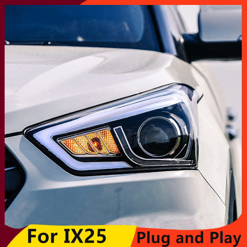 Image 2 - KOWELL Car Styling for Hyundai IX25 Headlights 2015 2017 Creta LED Headlight DRL Daytime Running Light Bi Xenon HID Accessories-in Car Light Assembly from Automobiles & Motorcycles