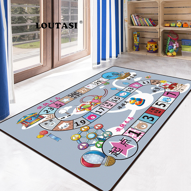 LOUTASI Kids Rug Developing Mat Soft Flannel Baby Play Mat Toys For Children Mat Playmat Puzzles Carpets In The Nursery Play