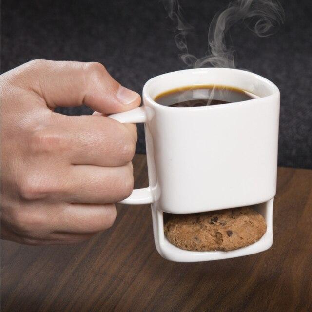 1Piece Coffee and Cookie Mug Ceramic Dunk Mug Coffee Cup with ...