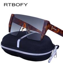 RTBOFY NEW Fashion Square Men Sunglasses 2017 Brand Designer Vintage Rimless Sun Glasses Personality Female Goggles for Eyewear