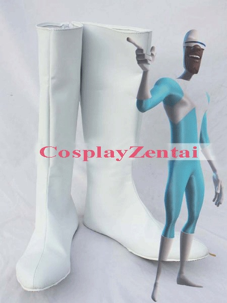 The Incredibles Frozone Cosplay Boots White Cosplay Halloween Boots ...