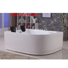 Acrylic Bathtub 1.6M Double Adult with Bath Pillow Family Hotel Bathroom Freestanding Tub Right/left skirt optional