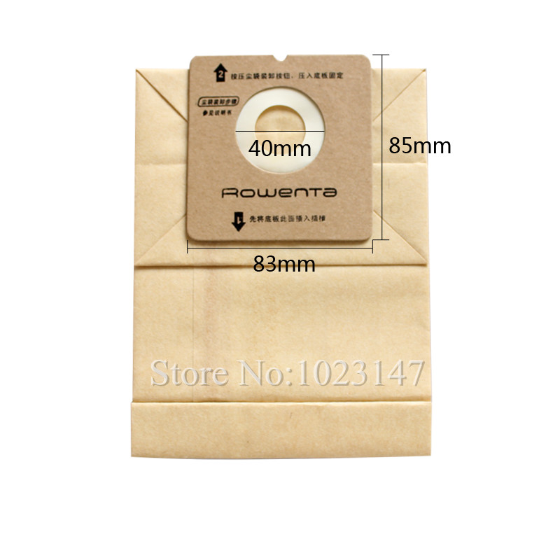 10 pieces/lot Vacuum Cleaner Filter Bags Dust Paper Bag for Rowenta RO1121 RO1122 RO1124 RO1132 RO1136 RO1321 5x vacuum cleaner dust bags filter bag for nilfisk extreme power allergy special p10 eco