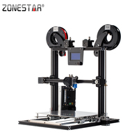 ZONESTAR Full Metal Dual Extruder Mixed Color Aluminum Frame Large Size 300x300x400 Impresora 3D Printer DIY