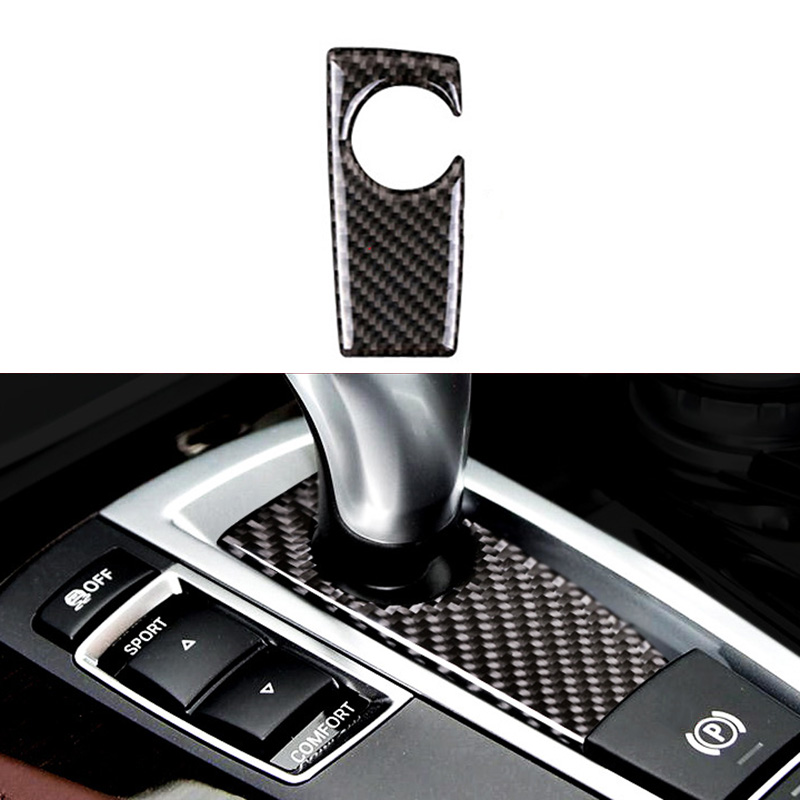 New Carbon Fiber Gear Shift Knob Trim Parts For BMW 5 7 Series F10 F01 F02-in Interior Mouldings from Automobiles & Motorcycles