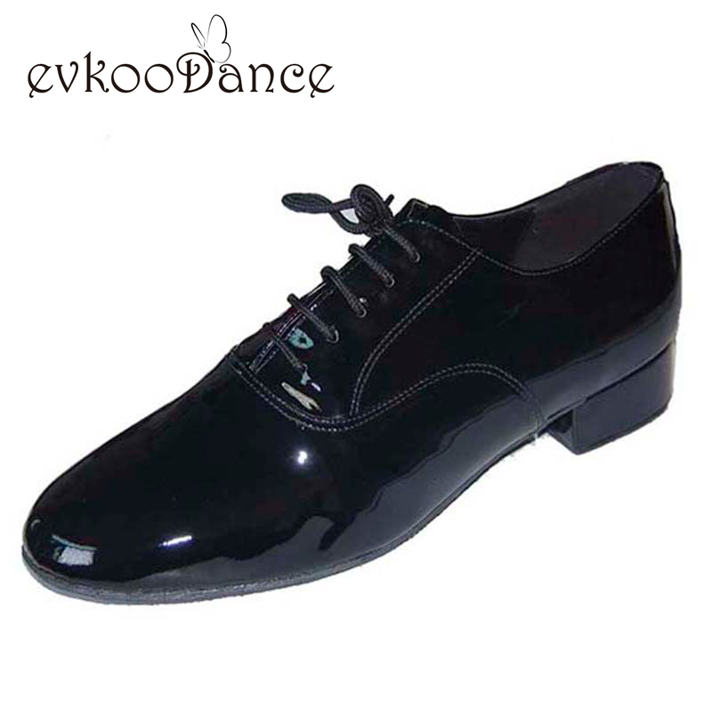 Black Brown White Leather Heel Height 2.5cm Zapatos De Baile Size US 4.5-13.5 Professional Ballroom Dance Shoes Men MB001 цена