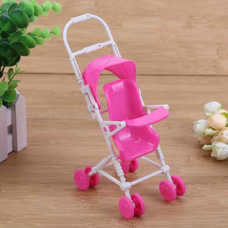 9 Pcs Rumah Boneka Miniatur Boneka Plastik Mobil Set Mini Baby Stroller Cart Trolley Play Rumah Boneka Aksesoris Mainan Anak set