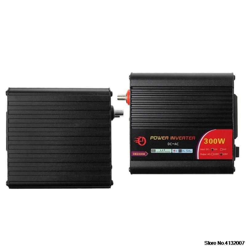 300 W Power Inverter convertidor DC 12 V a 220 V AC coches con adaptador de coche 828 promoción