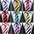 NOVO ESTILO de Azul Verde Vermelho Branco Amarelo Tarja Preta do Homem Clássico Rayon Poliéster Tie Festa de Casamento Dos Homens de Negócios de Moda gravata